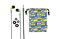 Minions Noise Isolating Earbuds with Pouch, (Ui-M15MS.FXv2)