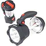 Duronic Hurricane 4 in 1 Rechargeable Wind-Up Dynamo Flashing Red LED, 10 LED Lantern & 3 LED Torch - USB Charging Function + 1 Year Warranty