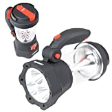 Duronic Hurricane 4 in 1 Rechargeable Wind-Up Dynamo Flashing Red LED, 10 LED Lantern & 3 LED Torch - USB Charging Function