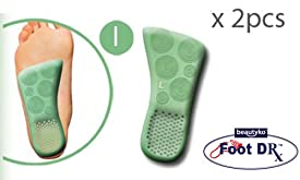 Foot Doctor Therapy Half-Insoles Honeycomb Mint Gel