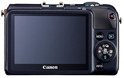 Canon EOS M2 Mirrorless Digital Camera with EF-M 18-55mm + EX90 Speedlite Flash Kit (Blue) from DavisMax