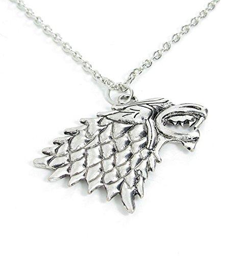 Spedito da ITALIA - Collana Pendente ciondolo MetaLupo della casata Stark - Game of Thrones - Trono di Spade