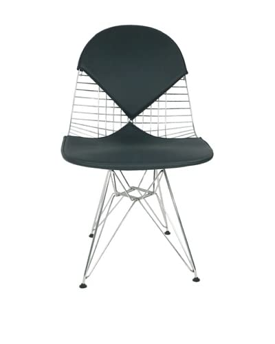 Control Brand Wire & Leather Chair, Black