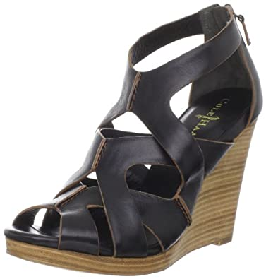 Cole Haan Women's Air Kimry OT Wedge Sandal,Black,6 B US