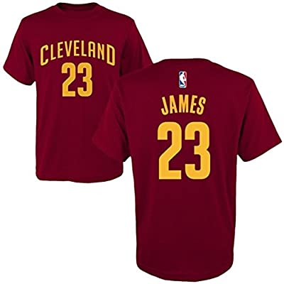LeBron James Cleveland Cavaliers adidas Youth Game Time Flat Name & Number T-Shirt - Wine