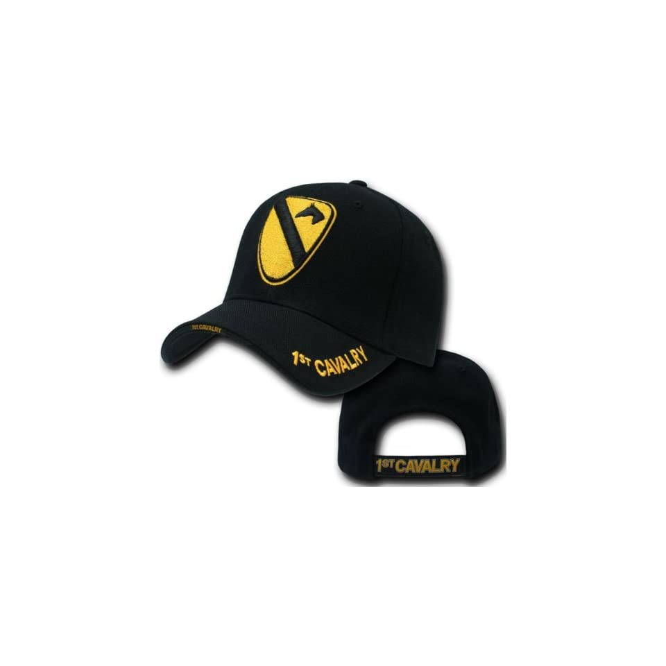 RAPID DOMINANCE Military Workout Branch Caps (Adjustable , 1st. Cavalry Black)