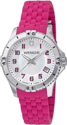 Wenger-Womens-0121101-Analog-Display-Swiss-Quartz-Pink-Watch