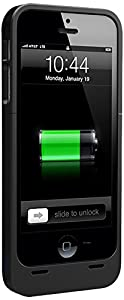 uNu Power DX External Protective Battery Case for iPhone 5s / iPhone 5 - MFI Apple Certified (Matte Black, Fits All Models iPhone 5S & iPhone 5)