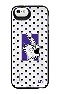 Uncommon LLC Northwestern University Polka Dots Power Gallery Battery Charging Case for iPhone 5/5S - Other Chargers - Retail Packaging - White/Purple/Black