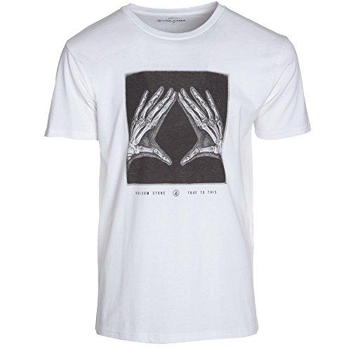 Volcom-Maglietta da uomo a maniche corte X-Ray a maniche corte, Uomo, T-Shirt X-Ray Shortsleeve, bianco, XS