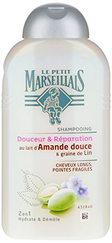 Le Petit Marseillais - Shampoo lungo Lin - Mandorle Dolci - 250 ml flacone - Confezione da 3