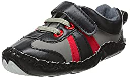 Luvable Friends Explorer Sneaker (Infant), Black, 12-18 Months M US Infant