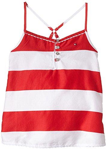 Tommy Hilfiger - May Stripe Top Slvls, T-shirt per bambine e ragazze, rosso(rot (lollipop-pt 608)), taglia produttore: 14
