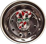 Candy Canes Enamel Novelty Kitchen Sink Strainer
