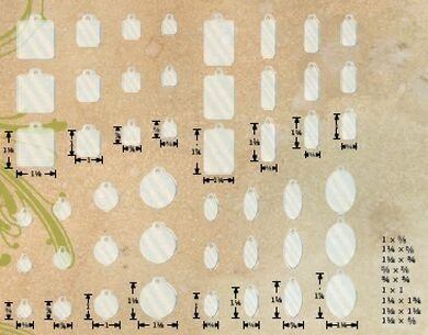 Advantus Tim Holtz Idea-Ology Fragments 48-Pack, Clear Charms