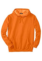 Kingsize Men\'s Big & Tall Fleece Pullover Hoodie, Bright Orange Big-5Xl
