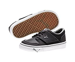 Puma Kids Boy\'s El Ace 2 (Toddler/Little Kid/Big Kid) Black/Limestone Gray Sneaker 10 Toddler M