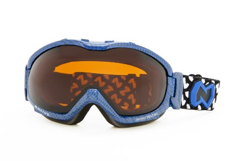 Native Eyewear Boomer Polarized Goggle (Amber, Blue Carbon Fiber)