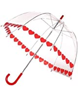 Clear Printed Bubble Umbrella - Heart String