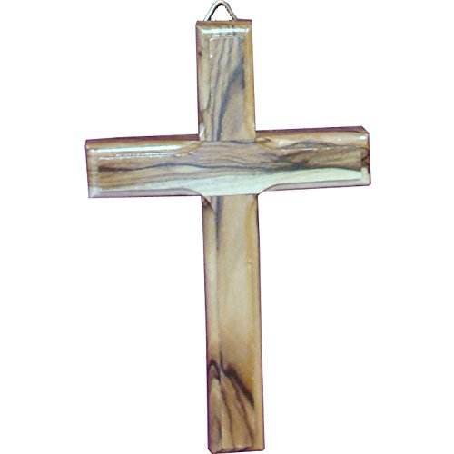Wall Hanging Wood Cross 12cm Olive Wood Wall Cross From Bethlehem (Ow-Crs-053)
