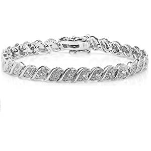 1/2ct Diamond Tennis Bracelet crafted in Sterling Silver 7 1/2inch by Amanda Rose Collection