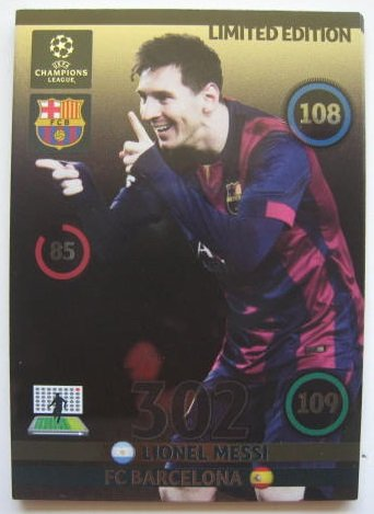 Lionel MESSI Champions League Adrenalyn XL Update 2014 / 2015 14 / 15 2014 Limited Edition CARD (2014 Champions League compare prices)