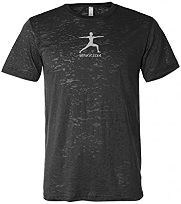 Yoga Clothing For You Warrior II Pose Mens Burnout Tee Shirt