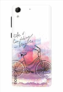 Noise Riding Cycle Printed Cover for HTC Desire 728G Dual Sim (AM-51)