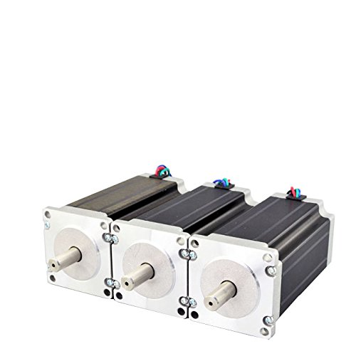 STEPPERONLINE 3PCS 3Nm Nema 23 Stepper Motor 4.2A 4-wires 10mm Shaft DIY CNC Mill Lathe Router