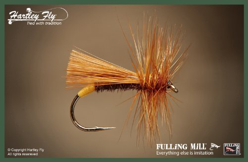 FM530-S12 Fulling Mill Trout Fliegenfischen Fliegen Sedge (Richard Walker) Size 12