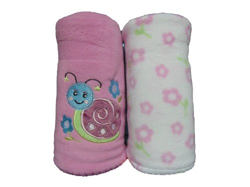 Pink Fleece Baby Blanket front-991412