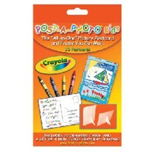 Crayola Post-A-Photo Kids Picture Postcard & Frame - 10 Pack