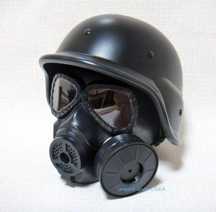 [Jack-Army]正規代理店 サバゲー SWAT M88 フリッツヘルメット M04ガスマスク型  黒 ブラック