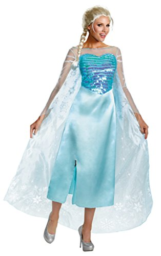 Disguise Womens Frozen Disney Snow Queen Elsa Halloween Costume