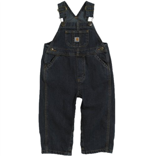 Carhartt Baby-Boys Washed Denim Bib Overall, Worn In Blue, 18 Months front-956043