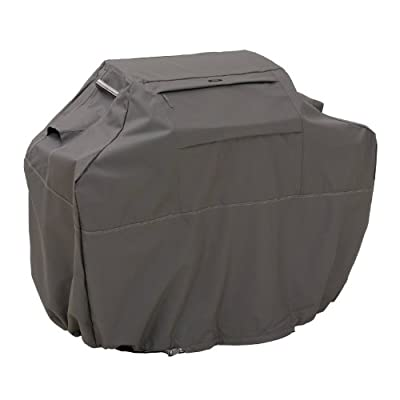 Classic Accessories Ravenna Grill Cover - Premium BBQ Cover with Reinforced Fade-Resistant Fabric and Lifetime Warranty