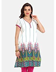 Aaboli Women's Cotton Long Kurta - B00KW99F50