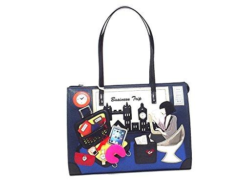 Braccialini borsa donna a spalla,Cartoline 10777, ecopelle multicolore A6102
