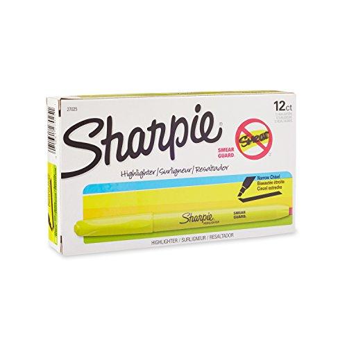 sharpie-accent-pocket-style-highlighters-fluorescent-yellow-chisel-tip-dozen-27025