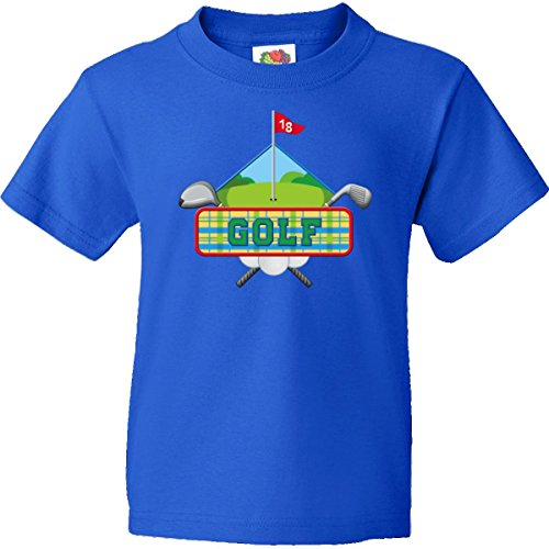 Inktastic Big Boys' Golf Diamond Logo Youth T-Shirt Youth X-Small (2-4) Royal Blue