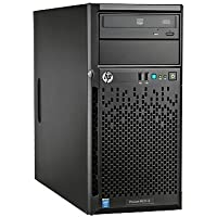 HP ProLiant ML10 v2 Server with Intel Core i3-4150 / 8GB / 500GB (Black) + Lenovo TS140 Tower Server
