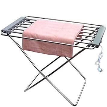 etendoir linge linge electrique 8 barres 95 x 63 63 x 74 cm aluminium bross. Black Bedroom Furniture Sets. Home Design Ideas