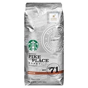 Starbucks Pike Place Roast, Medium Roast, Ground, 20 oz