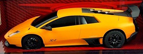 "Luxe Radio Control Black Lamborghini Murcielago LP 670-4 SV, 7"" Full Fuction Radio Controlled, Mustard"