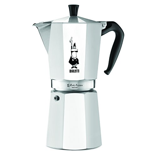 The Original Bialetti Moka Express Made in Italy 12-Cup Stovetop Espresso Maker with Patented Valve (12 Cup Espresso Coffee Maker compare prices)