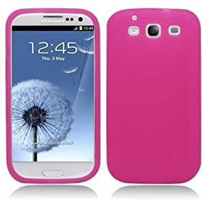 Aimo Wireless SAMI9300SK005 Soft n Snug Silicone Skin Case for Samsung Galaxy S3 i9300 - Retail Packaging - Hot Pink