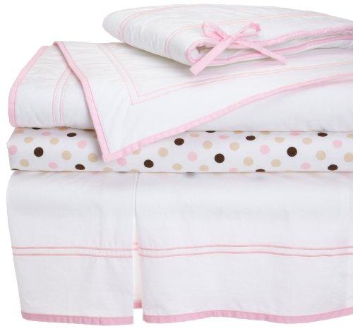 Pinzon 100% Combed Cotton 200Tc Percale Hotel Stitching Crib Set, Dogwood Pink front-625318