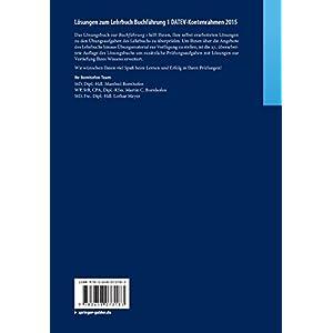 Lösungen zum Lehrbuch Buchführung 1 DATEV-Kontenrahmen 2015: Mit zusätzlichen Prüfungsaufgaben u