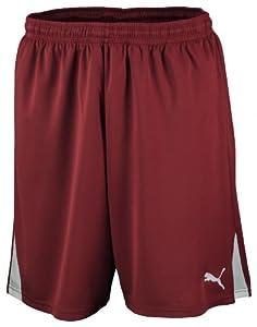 PUMA - Pantalones de fútbol sala para hombre, tamaño L, color team burgundy - blanco