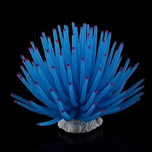 TOOGOO(R) Aquarium Fish Tank Sea Artificial Fake Coral Ornament Decoration Blue